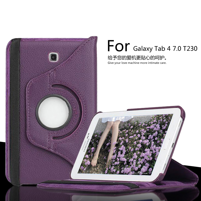 Hot wholesale case For Samsung Galaxy Tab 4 7.0 T230 T235 SM-T237P 360 Degree Rotating PU Leather Stand Shock Proof Tablet Cover<br><br>Aliexpress