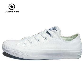 Converse Chuck Taylor II 2016 nuevo All Star unisex bajas zapatillas de deporte zapatos de lona Zapatos de Skate de color puro Clásico 150154C