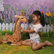 about 53cm simulation giraffe plush toy Christmas gift birthday gift h564