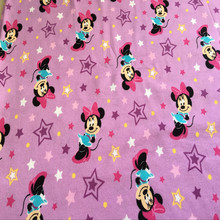 purple pcartoon cloth cotton knitted fabrics for Patchwork prints drapery DIY kids clothes coat SHIRT(China)
