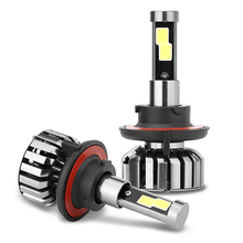 EURS(TM) 2PCS Discount N7 H4 H7 H27 H3 HB3 HB4 H11 H13 9004 9007 80W 8000LM 6000K IP68 H1 Auto Headlamp Led Headlight Bulbs