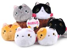 Kawaii Janpa Anime 6pcs/set Kutusita Nyanko Cat 7cm Plush Soft Doll Boots Cat Animal Stuffed Toy For Baby Kids Birthday Gifts