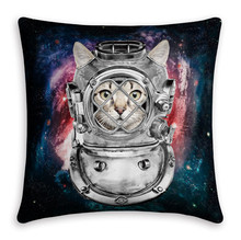 Maiyubo Maiyubo Universe Space Cat Pillow Covers Scandinavian Style Home Bed Decor Modern Cushion Cover with Hidden Zipper PC464