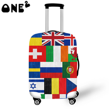 ONE2 Design European flag Printing Cover Apply to 22,24,26 Inch Suitcase export kids school Luggage cover