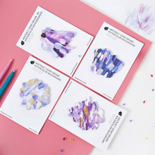 4 Pcs/pack Bright Hand Drawn Watercolor Grisaille painting Color ink Memo Pad Sticky Notes School Supply Bookmark Post it Label(China)