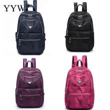 8f728654ec Fashion Black Oxford Backpack Female Rose Camouflage Backpacks for  Adolescent Girls Women Zipper Casual Small Purple School Bag