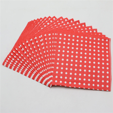 100% virgin wood napkin,20pcs red polka dot napkin/tissue paper towel for kids birthday party decoration supplies