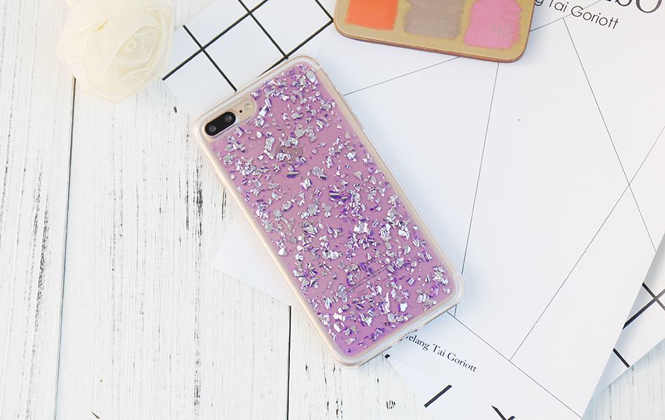 DOEES For iPhone 7 6 6S Plus 5 5S SE Case Luxury Cute Glitter Clear Case For Samsung Galaxy S8 Plus S7 S6 Edge S5 Note 7 5 Back Cover (1)