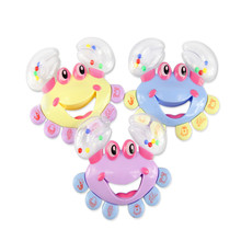 2017 Plastic Crab Toy Jingle Baby Kid Educational Shaking Rattle Handbell Kids Toys Special Offer Playgro Mobile Baby Chicco