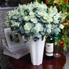 H-Q 48cm Artificial eucalyptus leaf Green plant branches Flower arranging accessories money leaves home decoration cheap(China)