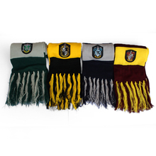 Gryffindor Slytherin Hufflepuff Ravenclaw Scarf Scarves Cosplay Gift warm Winter Dress Accessories Men Women Scarf