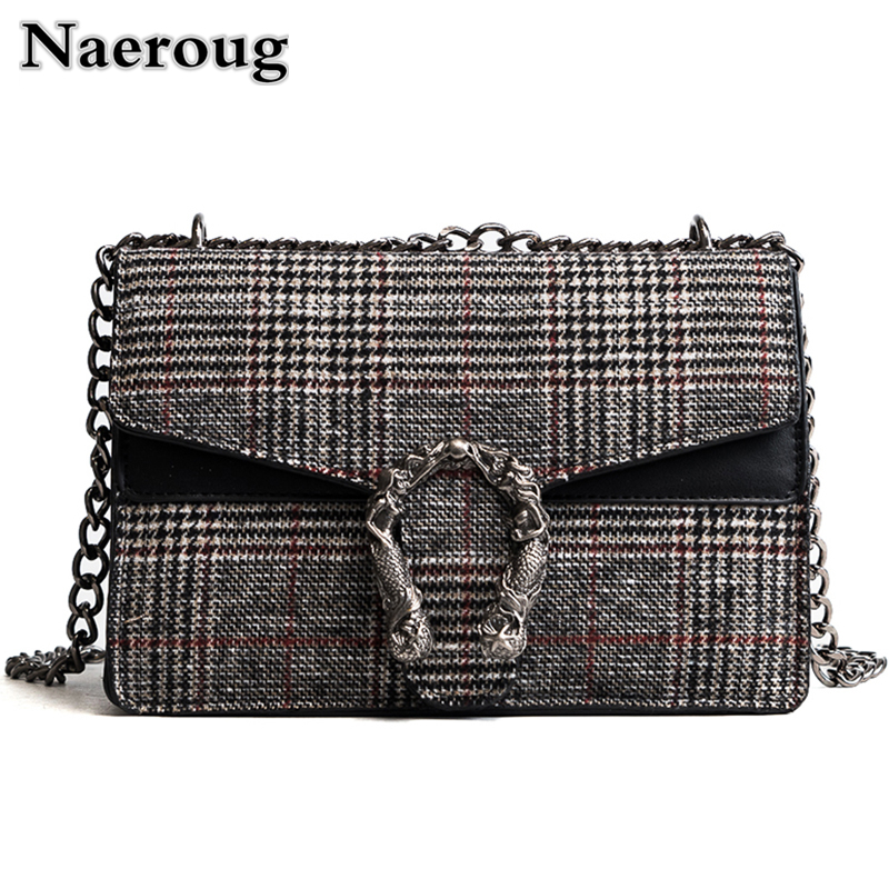 2018 Women Messenger Bags Luxury Handbag Famous Brand Women Plaid Lattice Bags Designer Chain Crossbody Bags for Women Bolsa Sac<br>