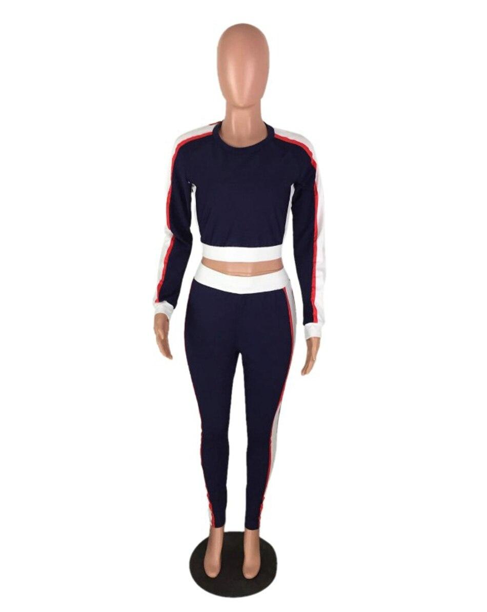 Two Piece Set 2017 Fashion Autumn Tracksuit Women Full Sweat Suits Long Sleeve Top + Pants 2 Piece Set Women 11