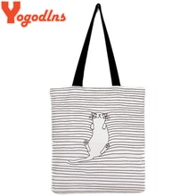 Yogodlns Women Bag Striped women shoulder handbag Cat Cute Simple Women Shoulder Bags Messenger Bag Bolsa Feminina De Ombro