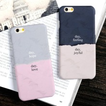USLION Fashion Double Color Case For iPhone 6 6s Plus Simple Frosted Hard PC Phone Back Cover Cases For iPhone6 Plus(China)