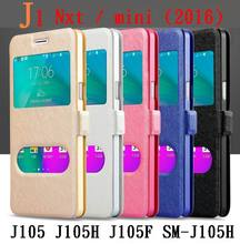 For Samsung Galaxy J1 Mini Case J105F J105H Glass Window View Cover Quick Flip Case For Samsung J 1 mini Touch Answer Cover Case