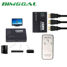 Hot Sale 1080P 3 input to 1 output HDMI switcher HDMI switch Hub Splitter TV Switcher Ultra HD for HDTV PC for PS3 Xbox360