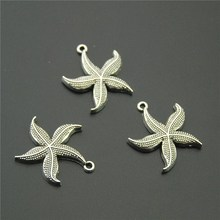 Buy 10pcs Antique Silver Starfish Charms Vintage Sea Star Charms Fit Bracelets Necklace DIY Metal Jewelry Making A2243 for $1.50 in AliExpress store