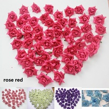 30Pcs 4cm DIY Wreath Of Roses Silk Flower Accessories Artificial Rose Wedding Decoration Accessories Craft Flowers Gifts 6Z(China)