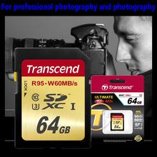 High Speed Transcend Class10 SD Card 64GB SDXC UHS-I U3 Flash Memory Card For Digital SLR Camera Full HD 3D 4K Video Camcorder