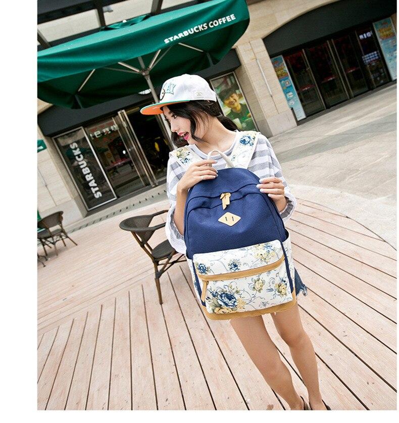 حقيبة مدرسية للفتيات قماش 4