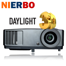 7000 lumens Daylight Projector Shutter 3D projector 1024*768 Native DLP Chip 203W lamp HDMI Support 1920*1080P Optional system