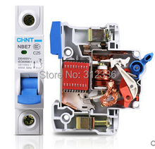 Free Shipping C25 1P 25A small air switch unipolar circuit breaker Electric home use or generator use or other(China)