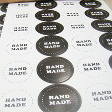 3.5cm White/black Handmade Stickers For Gift Tags, Goody Bags, Baked Goods, Soaps, Candles - Handmade Label Seal 300pcs per lot