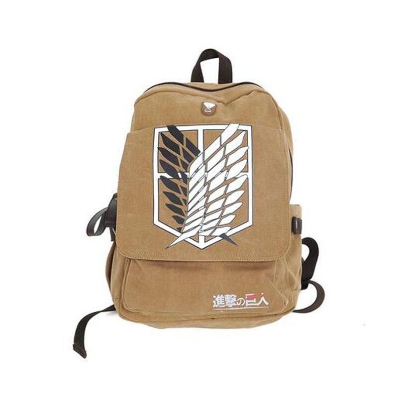 Fashion Laptop travel backpack canvas school bag shingeki Kyojin no attack on Titan backpacks Shoulder Unisex Cartoon  bag<br><br>Aliexpress