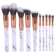 Brand New 10Pcs Marbling Makeup Brushes Set Powder Foundation Eyeshadow Cosmetic Face Make up Brush Eyes Concealer Brushes Woman