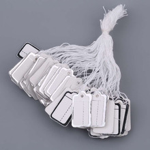 100 Pcs/Set Price Tags Practical Silver/Golden Dotted Line Merchandise Cloth Label Jewelry Strung Pricing Display(China)