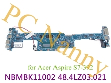 "For Acer Aspire S7-392 9439 Laptop Motherboard 13.3"" Touchscreen Ultrabook i7-4500U Processor 8GB RAM NBMBK11002 48.4LZ03.021"