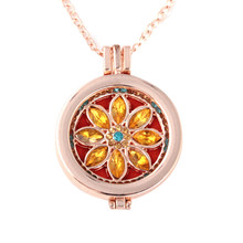 2017 Best Price Vintage Locket Essential Oil Diffuser Necklace And Pad Fragrance(China)