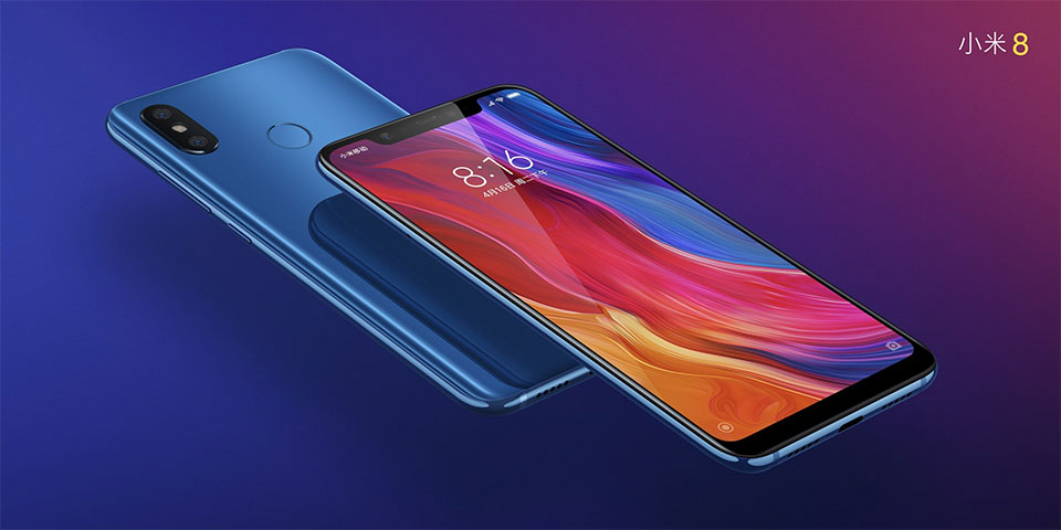 "Global Version Xiaomi Mi 8 Mobile Phone 6GB RAM 128GB ROM Snapdragon 845 Octa Core 6.21""18.7:9 Full Screen 20MP Front Camera"