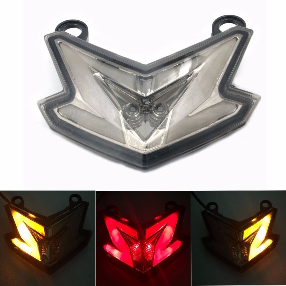 Motorcycle Integrated LED Tail Light Rear Lamp Integrated Brake Stop Turn Signal Light For Kawasaki Ninja ZX6R 636 Z800 2013-15<br>