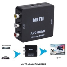 1080p HD Composite AV 3RCA to HDMI Signal HD Video Converter for DVD/TV BOX/Surveillance Camera TO TV monitor