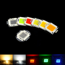 1 X Super bright LED lamp chip 10W 20W 30W 50W 100W COB Integrated Diodes Chip For DIY LED Floodlight Spotlight Bulb 7 Color