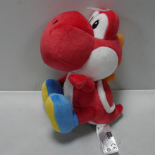 "IN HAND NEW Original Cartoon Games Super Mario Bros. Party 8 Series Plush  Yoshi  RED COLOR 6.5"" 16cm Stuffed animal"
