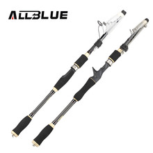 ALLBLUE Universal Rod Carbon Fiber Telescopic Fishing Rod 1.80m 2.1M 2.4M 2.7M Spinning Casting Rod Saltwater Fishing Travel Rod