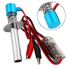 6-12V Electric Glow Plug igniter Starter Upgraded Electronic for RC 1/10 1/8 Nitro Car Monster Truck alligator clip HSP Himoto