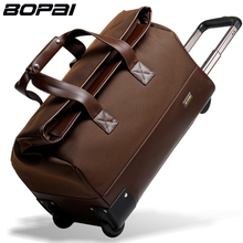 BOPAI 2016 Men Travel Bags 20 Inch Large Capacity Women Trolley Bags Travel Duffle Bag Waterproof Rolling Luggage Carry On Bag(China)