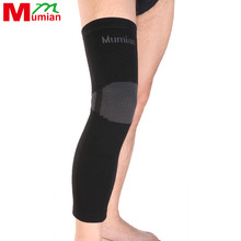 2017 New Mumian Elastic Sports Long Leg Knee Support Brace Wrap Protector Pads Sleeve Cap Patella Guard Volleyball A06 - 1pcs
