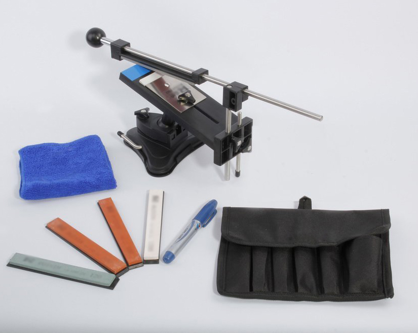 SOSW-Fixed-angle Knife Sharpener Kits System 4 Sharpening Stones<br>