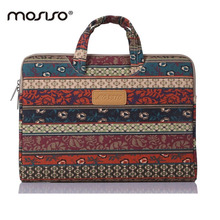 MOSISO Brand Bohemian Style For Macbook Air Pro 11 13 15inch Notebook Laptop Lady  Briefcase Handbag Computer Zipper Sleeve Case