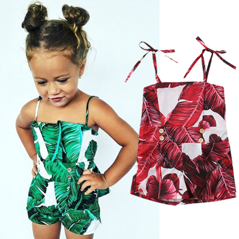 Rompers Summer Sleeveless Newborn Baby Girls Floral Off Shoulder Romper Jumpsuit Outfits Clothes 0-24M
