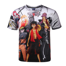 Mr.1991INC&Miss.GO Men's Naruto 3D T Shirt Cartoon Anime Dragon Ball Print T-shirt Home Clothing Harajuku One Piece Camisetas