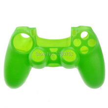 Green Soft Silicone Skin Case Handle Cover Protector for PS4 Controller Game Player