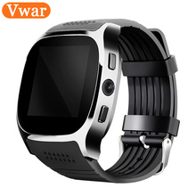 T8 Bluetooth Smart Watch With Camera Music Player Facebook Whatsapp Sync SMS Smartwatch Support SIM TF Card For Android PK DZ09(China)
