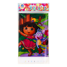 1PCS Dora Theme  Plastic Table Cloth  Party Decoration Baby Happy Birthday evening Party Supplies Wedding for kids