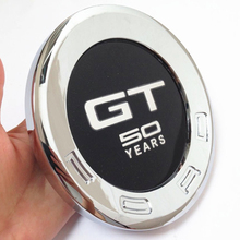GT 50 YEARS Symbol Car Styling Auto ABS Rear Back Emblem Badge Sticker for Ford Mustang GT 2010 Up